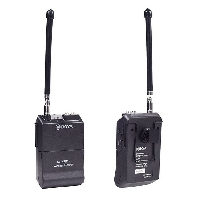 BOYA hot selling BY-WFM12 VHF Wireless Lavalier Microphone for DSLR Cameras & Smartphones