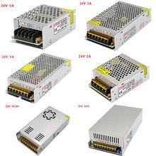 AC 110 220v to DC24V 1A 1.5A 2A 2.5A 3A 5A 6A 8.3A 10A 15A 16.5A 20A 25A 30A LED Strip Switch power supply lighting Transformers plc dvpps02 dc24v output 2a in box switch power supply