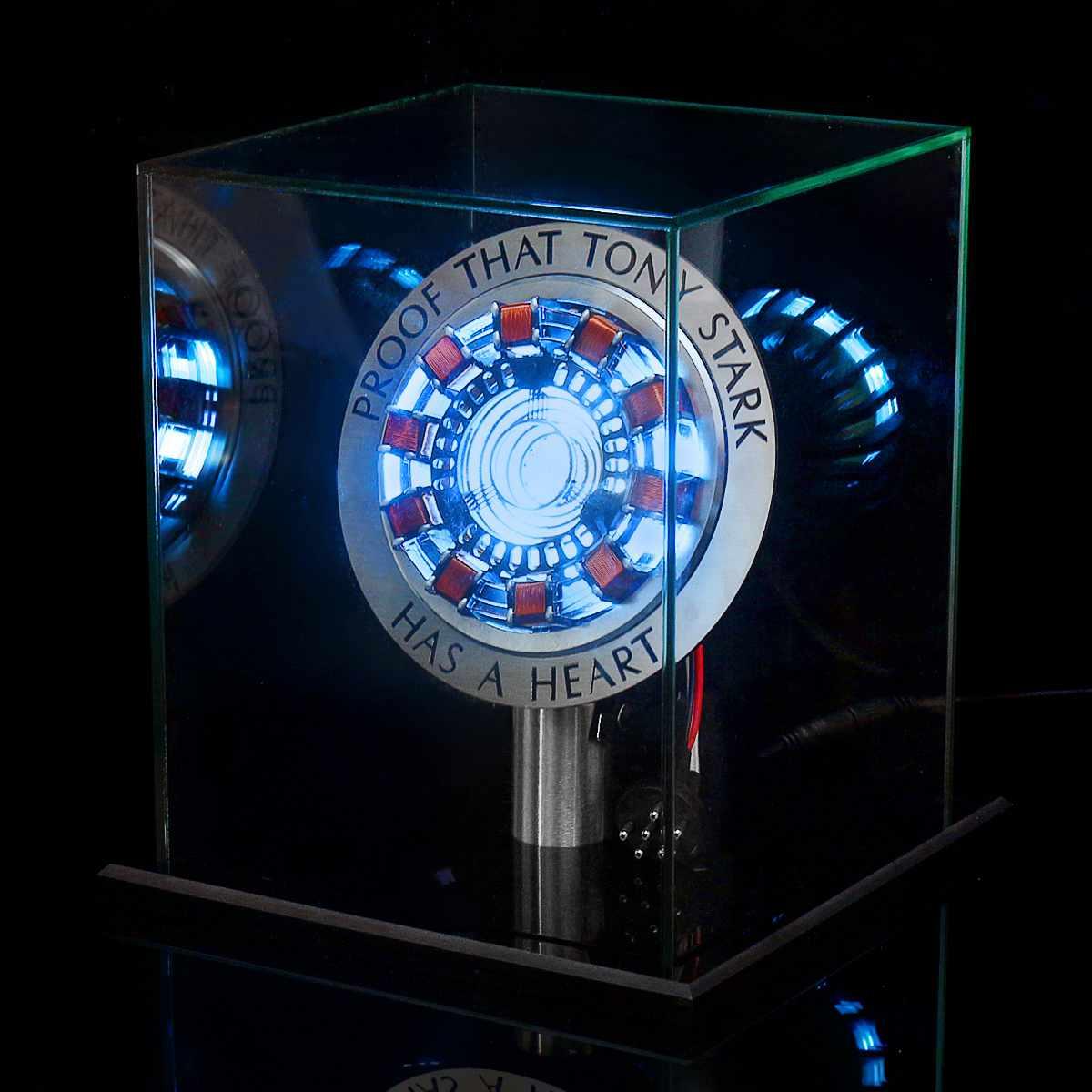 MK1 alliage d'aluminium/acrylique Tony 1:1 Arc réacteur bricolage modèle Kit LED lampe de poitrine USB film accessoires cadeaux Science jouet