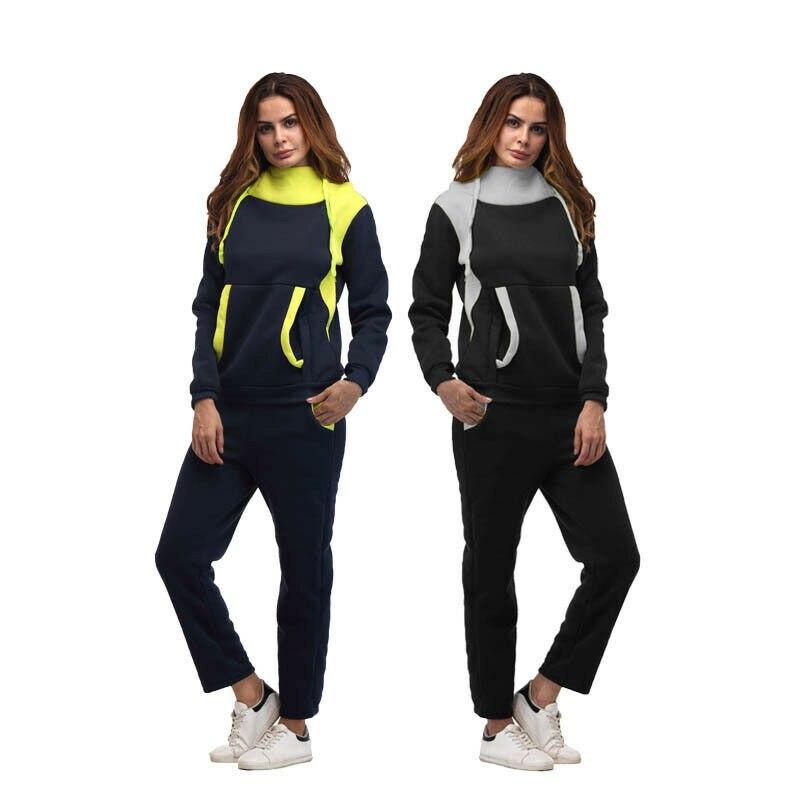 Gym Sweat Sportwear ensemble survêtement Sweat costume femmes 2 pièces Sport Sweat pantalon ensemble Sweat survêtement survêtement Gym Sportwear