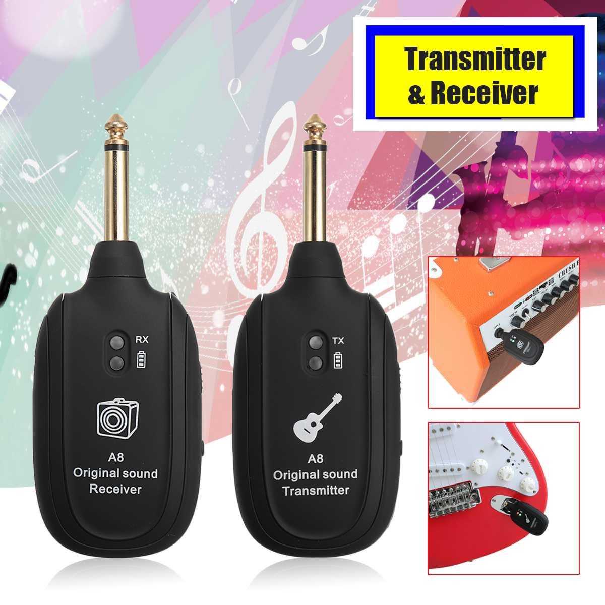 Selbstbewusst Unsicher Gehemmt Verlegen Audio Transmitter Wireless Receiver System Für Gitarre Violine Elektrische Instrument Unterstützt 4 Sets Licht Gewicht Anti-jamming HöChste Bequemlichkeit Befangen