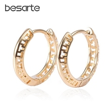 Gold Filled Earring Gold Hoop Earrings For Women Oorbellen Boucle d oreille Pendientes Brinco Ouro CC Earings Jewelry E1640 2019 simple gold color star stud earrings for women earrings copper bijoux jewelry brincos oorbellen boucle d oreille pendientes