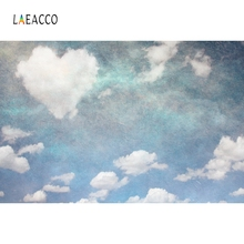 Laeacco Heart Cloud Blue Sky Backdrop Photography Backgrounds Customized Photographic Backdrops For Photo Studio цена