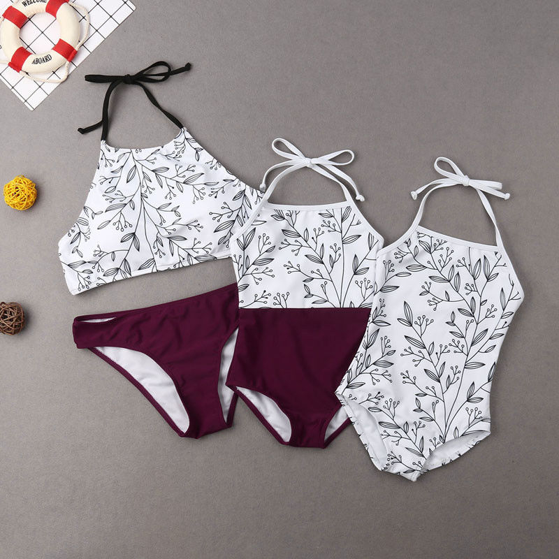Floral Matching Swimsuit Mommy And Me Swimsuit Matching Mother Daughter Clothes Family Matching Swimwear Bikini Set Bathing Suit