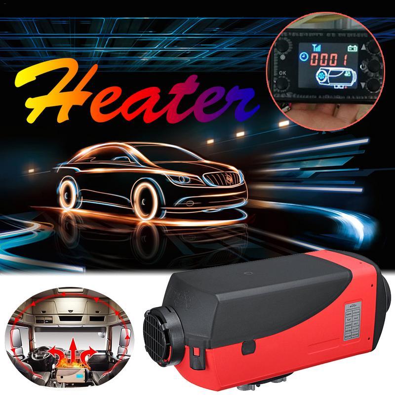 12 v 5000 w Monitor LCD Ar Diesel Aquecedor Do Carro Aquecedor De Combustível Único Furo Para Ônibus Barco Com Controle Remoto e Silenciador Para Livre