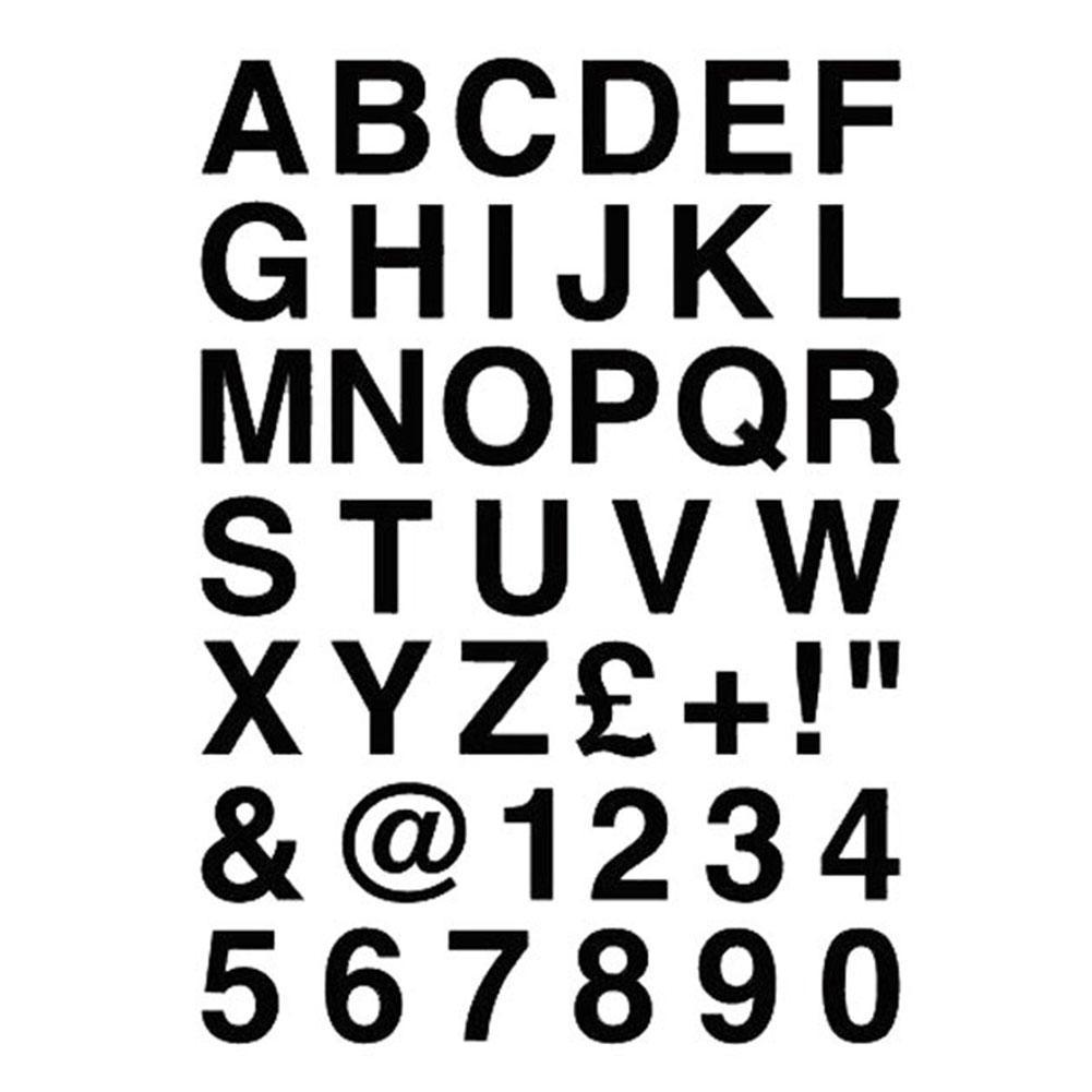 Car Sticker Reflective Waterproof Sunshade Car Protection Sticker Personalized Alphabet Letters Digital Decorative Sticker