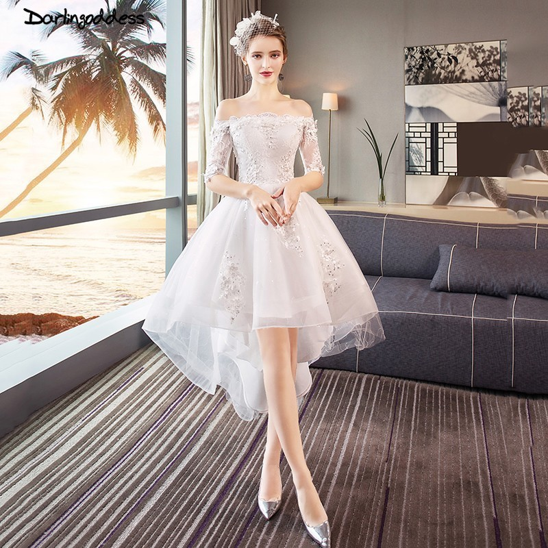 Aliexpress.com : Buy Sexy Lace Short Wedding Dresses 2018