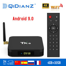 Tanix TX6 Smart TV BOX Android 9.0 Quad core ARM Cortex-A53 USB3.0 4G+64G 2.4G/5G Dual WIFI BT4.1 4K Neftflix Google Set Top Box(China)
