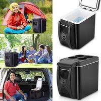 Dual Use 6L Home Car Use Refrigerators Ultra Quiet Low Noise Car Mini Refrigerators Freezer Cooling Heating Box Fridge