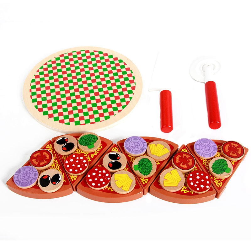 27Pcs Pizza Wooden Toys Food Cooking Simulation Tableware Children Kitchen Pretend Play Toy Fruit Vegetable With Tableware27Pcs Pizza Wooden Toys Food Cooking Simulation Tableware Children Kitchen Pretend Play Toy Fruit Vegetable With Tableware