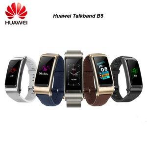 Orijinal Huawei TalkBand B5 Talk Band akıllı bilezik giyilebilir spor Bluetooth bilekliği dokunmatik AMOLED ekran çağrı kulaklık bandı