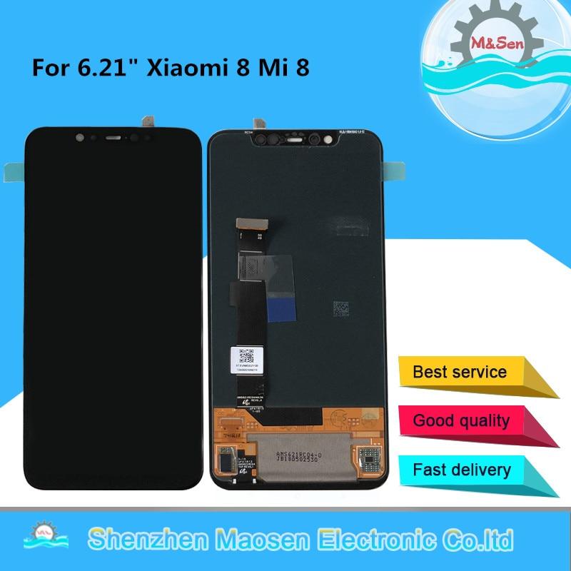 Original M Sen For 6 21 Xiaomi Mi8 Mi 8 AMOLED LCD Display Screen Touch Panel
