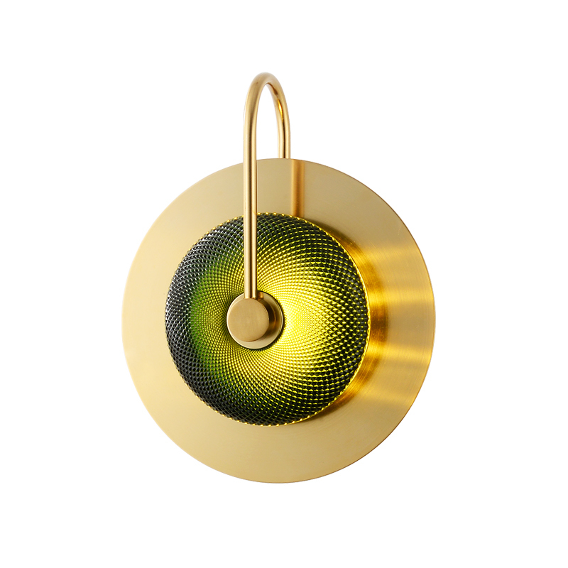 Modern LED Brass Glass Wall Lights Corridor Wall Lamp Cafe Bathroom Lighting Bedside Stairs for Home Living Room Bedroom Light