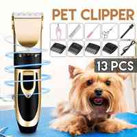 Домашний профессиональный триммер для собак, машинка для стрижки животных, машинка для стрижки кошек, электрическая машинка для стрижки