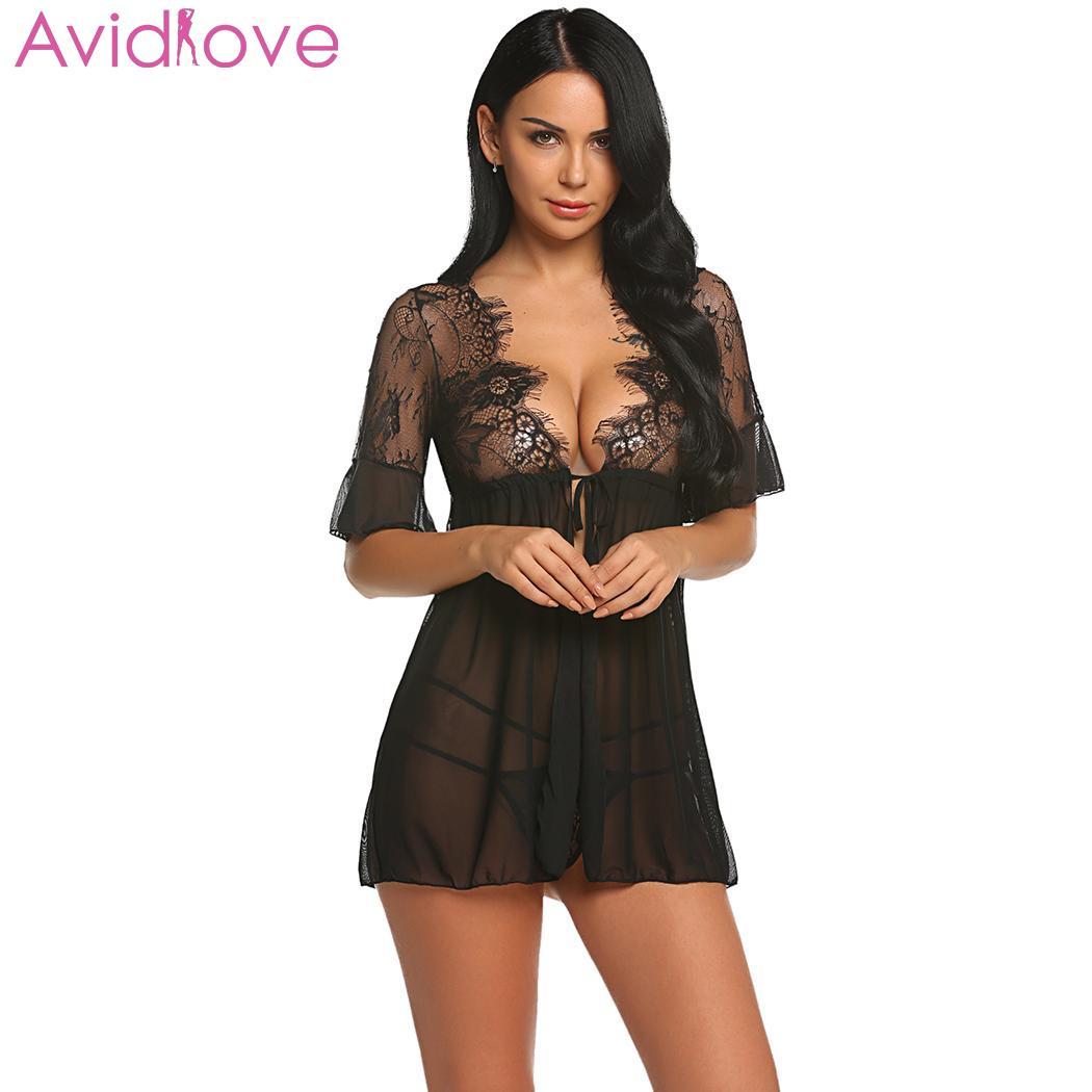 3c50fa66490 Avidlove Women Sexy Lingerie Lace Sex Underwear Dress Plus Size Babydoll  Chemise Porno Summer Hot Erotic. US  9.66