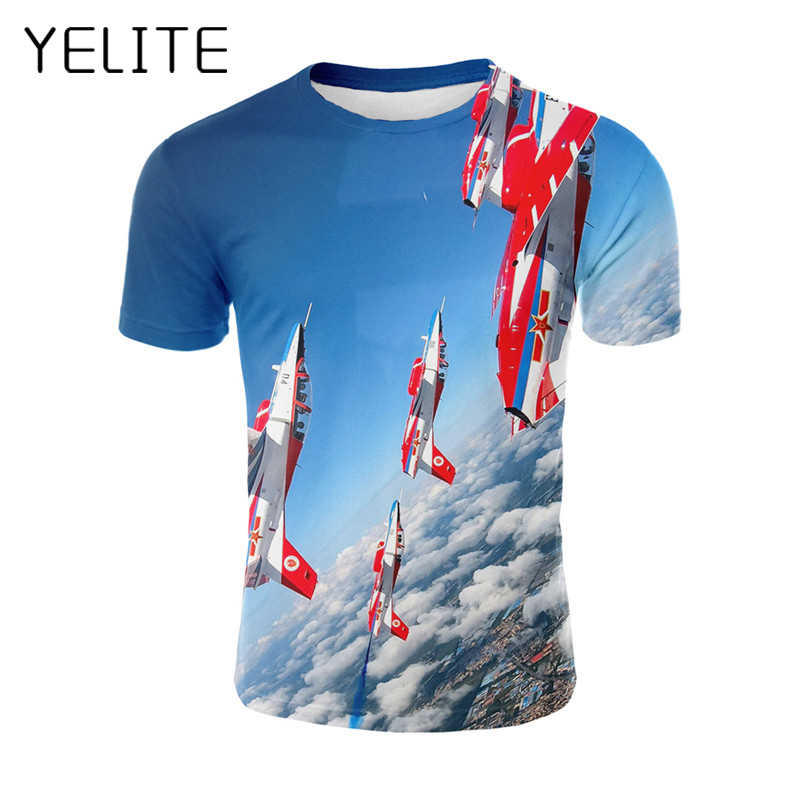 YELITE Chinese Aircraft 3d Printed T-shirt New Men Chinese Plane Printing Summer T shirt Streetwear Homme Fashion Harajuku Tops