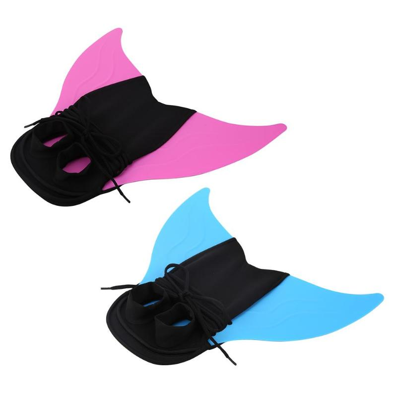 Children Outdoor Swimming Flippers Mermaid Tail Diving Monofin For Kids Training Learning Accessories