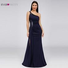 Sequined Evening Dresses Ever Pretty EP07869NB One Shoulder Mermaid Sparkle Sexy High Split Dubai Elegant Formal Long Dresses