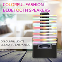 LED Colorful Flash Light bluetooth Speaker HIFI Stereo Wireless Rechargeable Portable Sound Box USB Flash Subwoffer Speakers