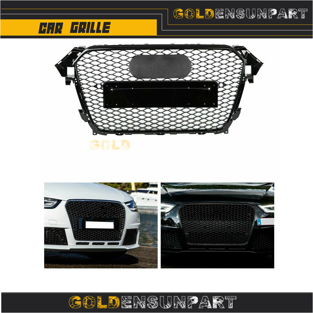 For Audi A4 RS4 Style Chrome Frame front Bumper Grill Grille