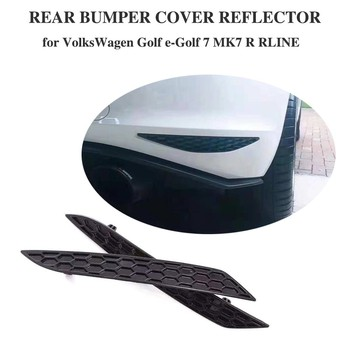 For Volkswagen VW Golf MK7 7.5 Base GTI R Rline 14 - 18 Rear Bumper Reflector Lamps Rear Light Reflective Strips 2PCS/SET ABS