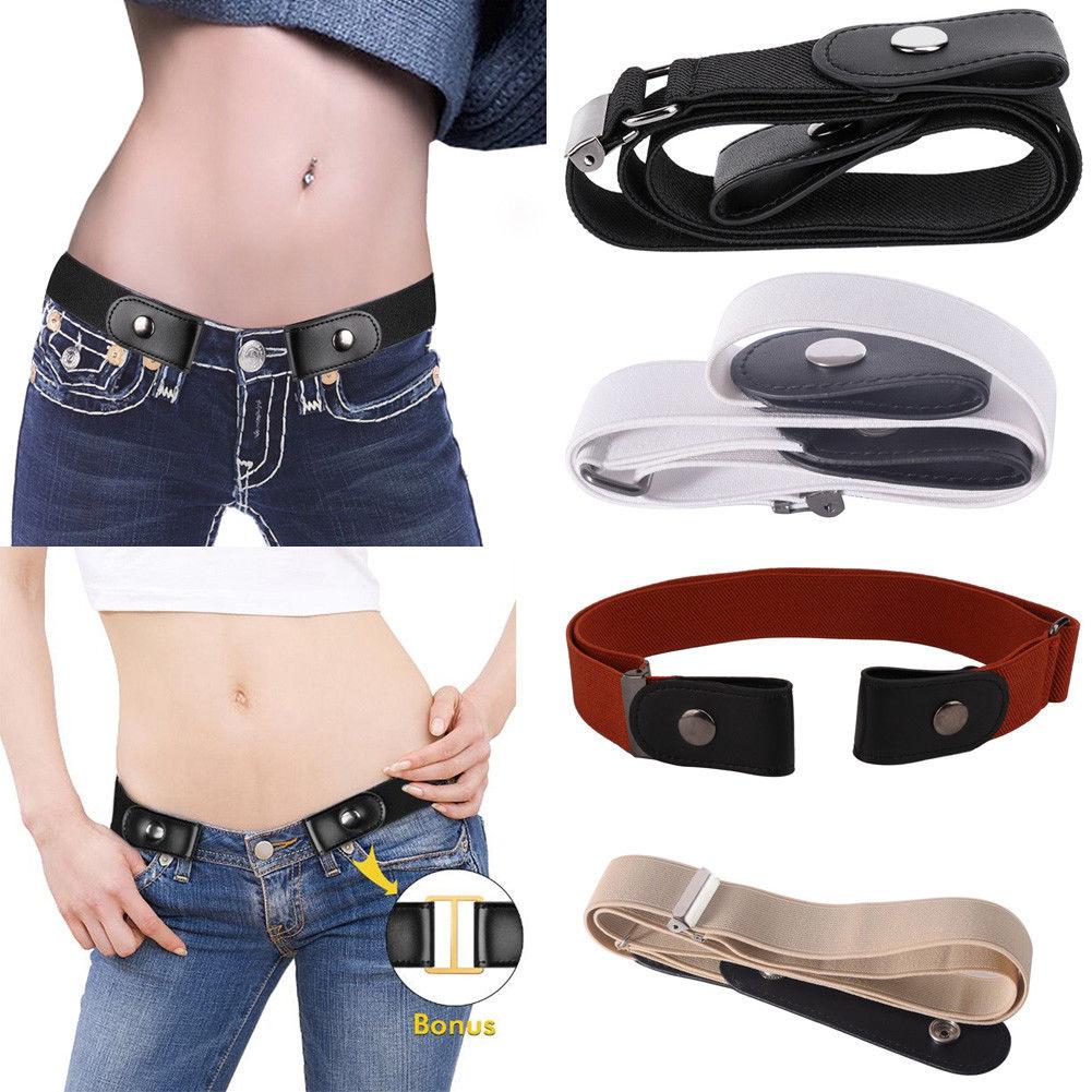 Convenient Comfort Belt Adult Kid Buckleless Belt Invisible Belt Elastic Jeans