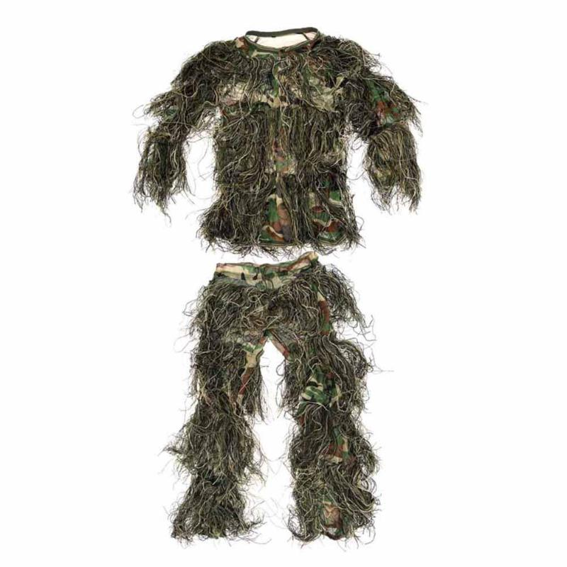 Jagd-tarnanzug Billiger Preis Tprpst Kinder Wald Design Camouflage Ghillie Anzug Gras Typ Jagd Kleidung Yowie Sniper 3d Bionic Tarnanzug Nl257