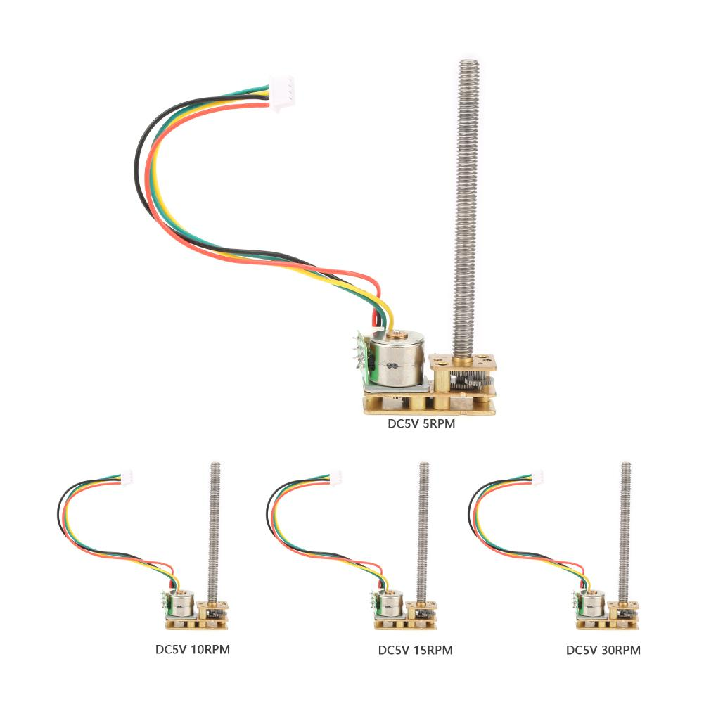 Us 9 76 30 Off Gm1024by10 M455 2 Phase 4 Wire All Metal Gear Stepping Reduction Motor Dc 5v 5 10 15 30rpm Stepper For Arduino 4 Phase In Dc Motor
