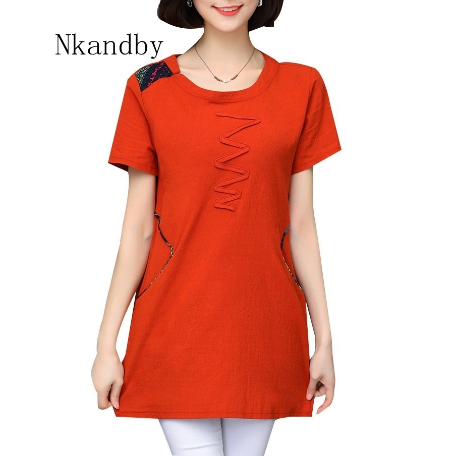 Nkandby Plus size Ladies Tops Summer Korean Women Clothing Slim Cotton Short sleeve 5XL 4XL Big size T shirt Regular Tees Female 1