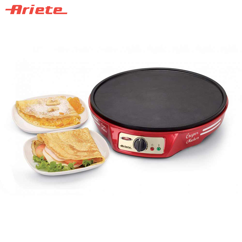 Crepe Makers Ariete 8003705112902 pancake flapjack pancakes flapjacks crepes Cooking Appliances Kitchen Appliances maker 50pcs commercial use non stick lpg gas poffertjes pancakes baker maker
