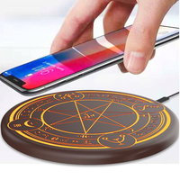 Magic Graphics Array Wireless Charger Fili Magic Qi Universal Ultra thin Travel Fast Charger Mobile Phone Accessories #1206