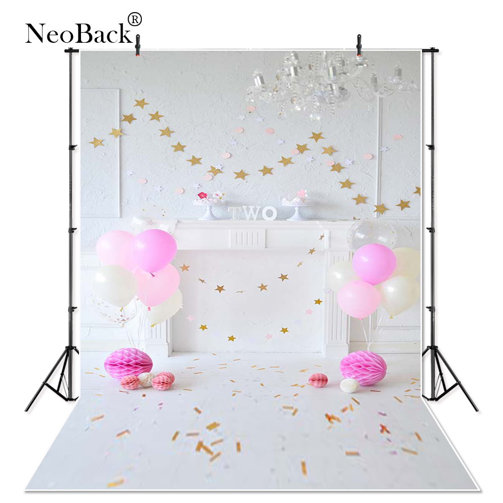 Vinyl 2nd Birthday Party Pink Balloons Decoration