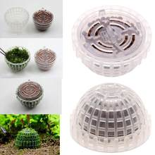 1PC Plastic Aquarium Decoration Live Plants Fish Tank Media Moss Ball Filter for Fish Tank Aquatic Pets Mineral Balls Ornaments(China)
