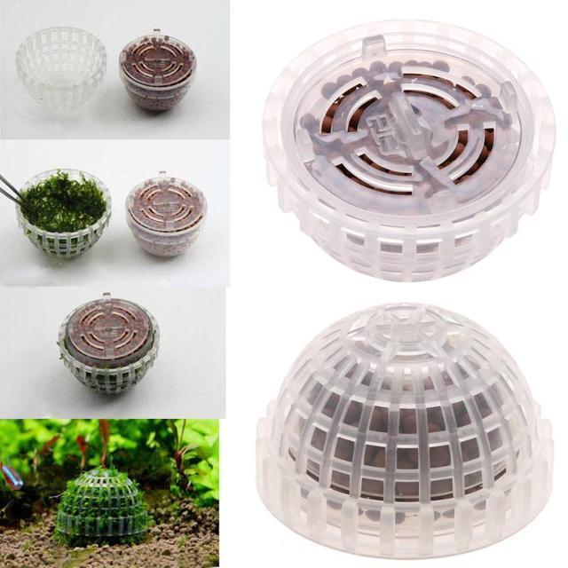 1PC Plastic Aquarium Decoration Live Plants Fish Tank Media Moss Ball Filter for Fish Tank Aquatic Pets Mineral Balls Ornaments