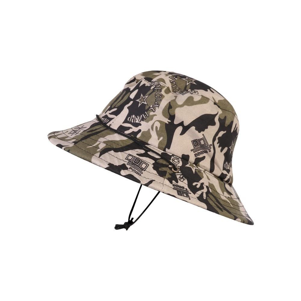 1 Pc Sommer Dschungel Camouflage Boonie Hut Fischer Kappe Eimer Hut Militär Mütze Für Männer Gorro Pescador Zu Verkaufen