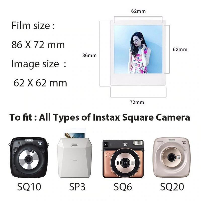 NUEVO Fujifilm Instax Cuadrado película de color de película SQ10 para Cámara SQ10 paquete de 10