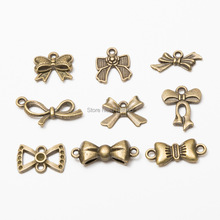 Charms Tiny Bow Antique bronze Color Bowknot Charms Jewelry Findings Diy Bowknot Charms Wholesale 10pcs jewelry components cheap Fashion AP190327104 TRENDY EmmaGreen Zinc Alloy Metal bow Charm for jewelry making Zinc Alloy metal Charms bowknot picture showed