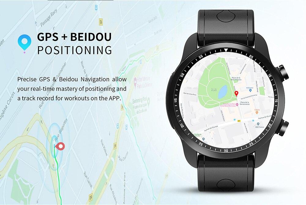 KC03 4G Smart Watch Phone Screen Watch GPS SIM WiFi BT4.0 Heart Rate IP67 Waterproof 8 Sports Models Smartwatch
