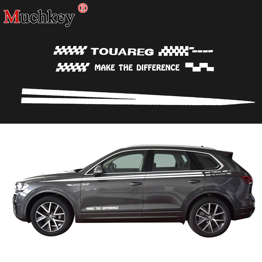 Car Sticker For Volkswagen Touareg Car Side Body Decal