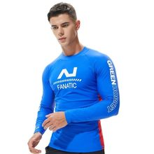 UV Protection Lycra Rashguard Men Long Sleeve Swimsuit Mens Swim Rash Guard Quick Dry Surf Driving T Shirt For Swimming Clothes(China)