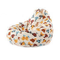 Cute Animal Bean Bag Lounger Sofa Cover Chairs Outdoor Couch Lazy Bean Bag Sofa Case Cover Without Filling Seat Living Room 1pc