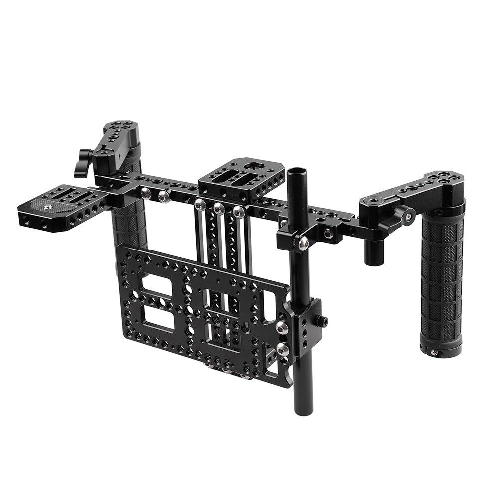 CAMVATE del Regista Monitor Kit con Piastra di Montaggio (Regolabile)