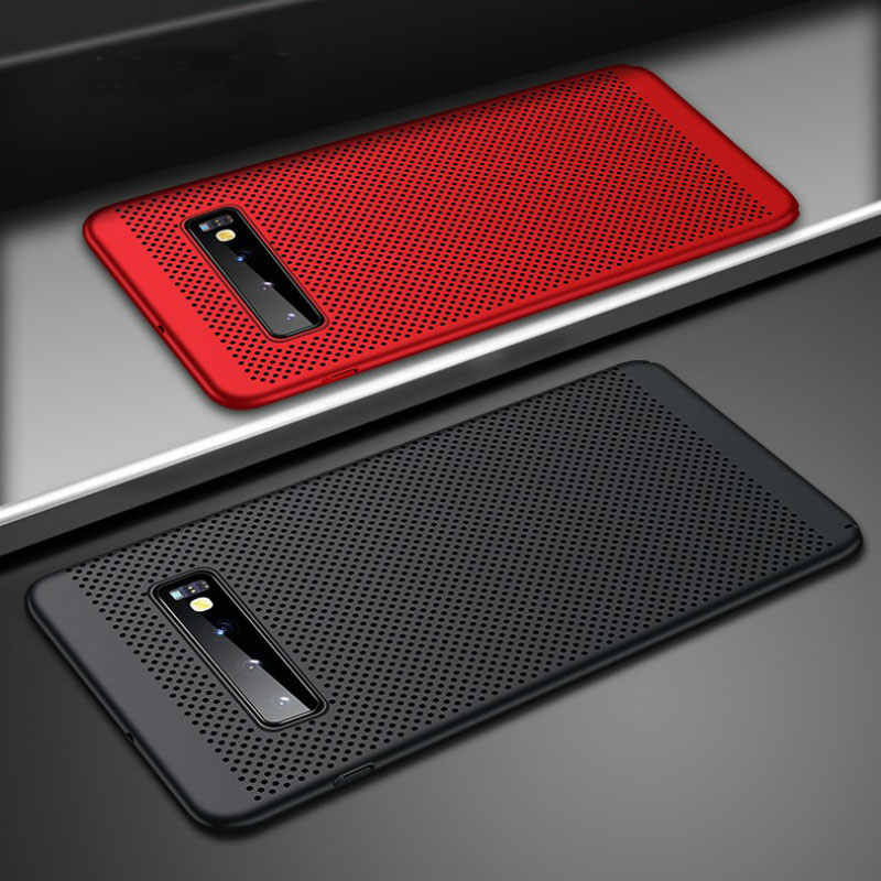 Ultra Thin Grid Heat Dissipate Phone Case For Samsung Galaxy A70 A50 A40 A10 Back Cover Case For M30 M20 M10 S10 S9 S8 Plus Capa