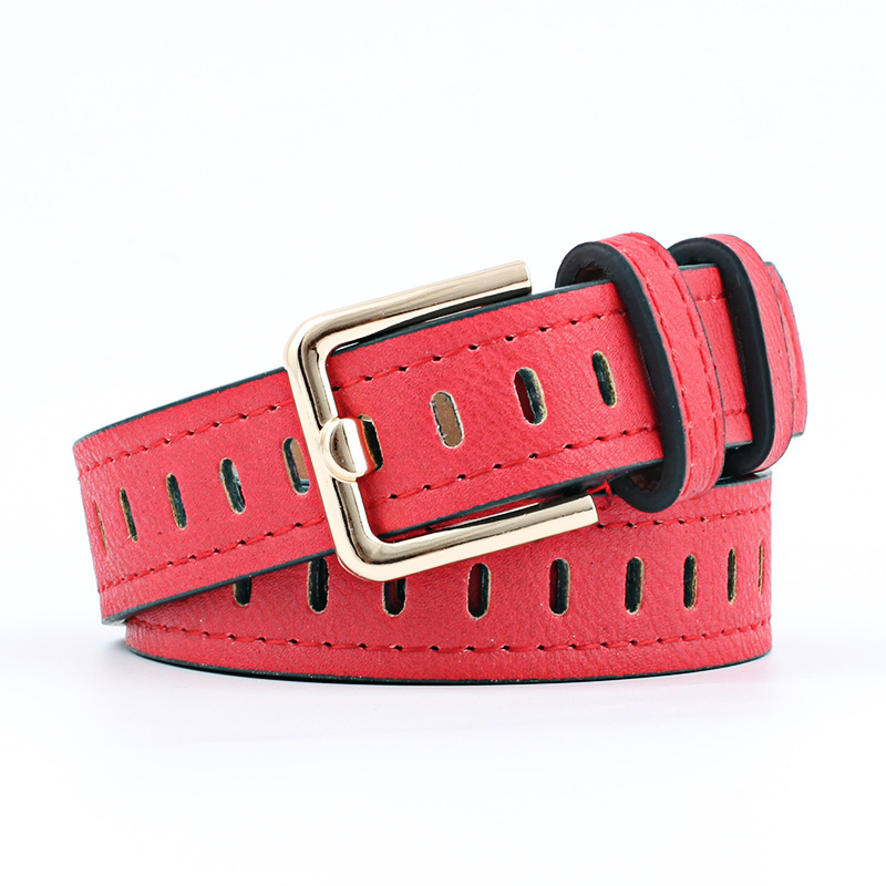 2019 New Designer Ladies Wide Leather Belt Female Silver Pin Buckle Strap Belts For Women Jeans Waistband Hollow Out Belt
