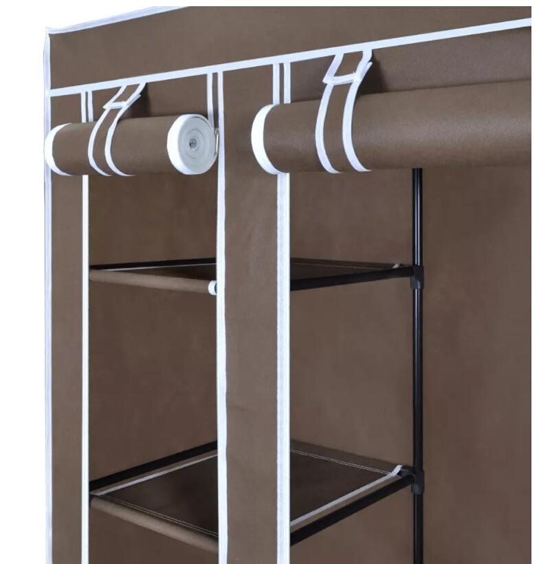 VidaXL placard pliable en tissu Non tissé armoire Portable moderne armoire Simple ménage tissu pliant rangement placard - 5