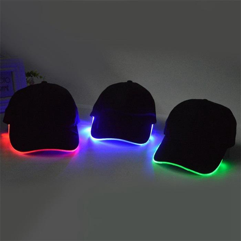 LED Display Fashion Hat Lighted Glow Club Party Athletic Travel Baseball XX