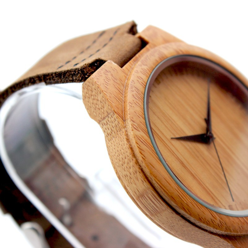 BOBO BIRD Brand Bamboo Watches Men Japan 35 Move' Wooden Wrist Watch with Genuine Leather Band as Gifts for Friends C-F18 2