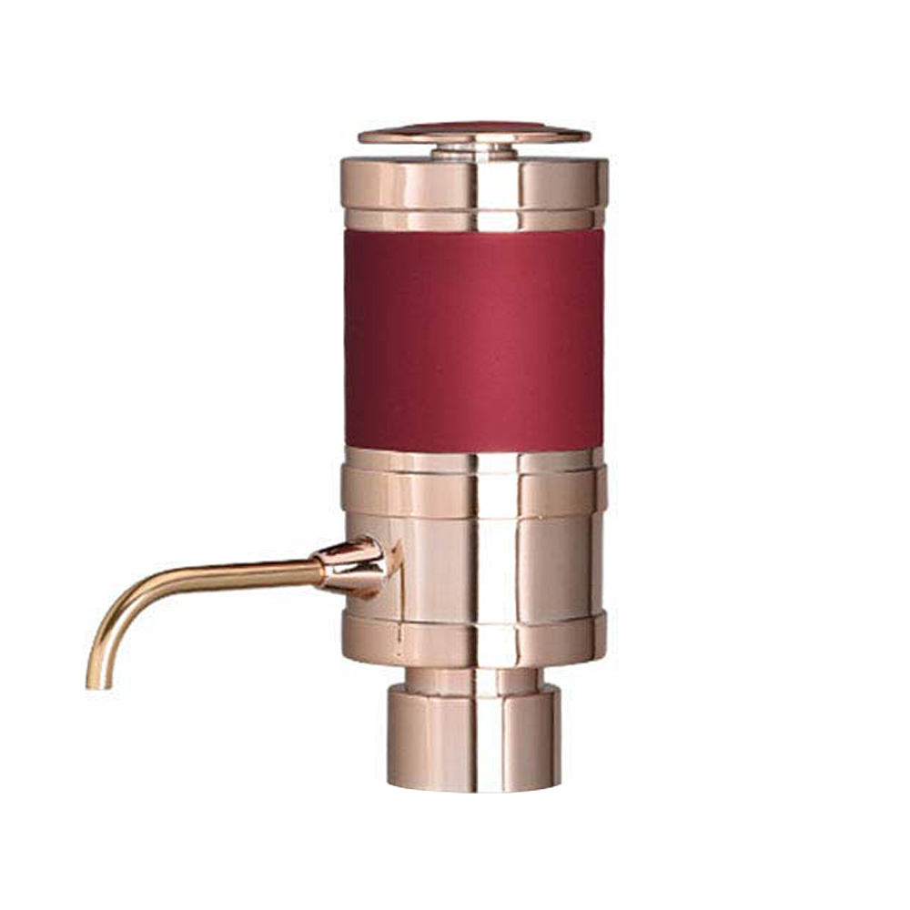 Electric Wine Aerator and Dispenser Quickly Oxidizes Portable Automatic Bottle Breather Pump with Metal Pourer Spout