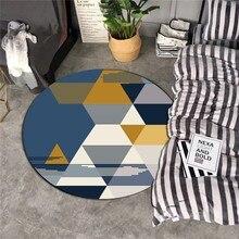 Скандинавский геометрический Коврик для гостиной, спальни, кабинета, прикроватные коврики, современный круглый детский цветочный декор, ковер, домашний диван, коврик для йоги