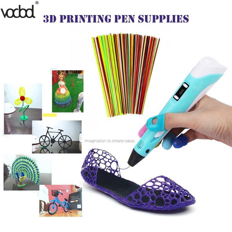 60 Pcs Plastic 3d Printer Pen 3.0 M Filamenten Pla Abs Universele 3d Printing Filament Materialen Schilderen Borstel Tekening Supply Nieuwe Superieure (In) Kwaliteit